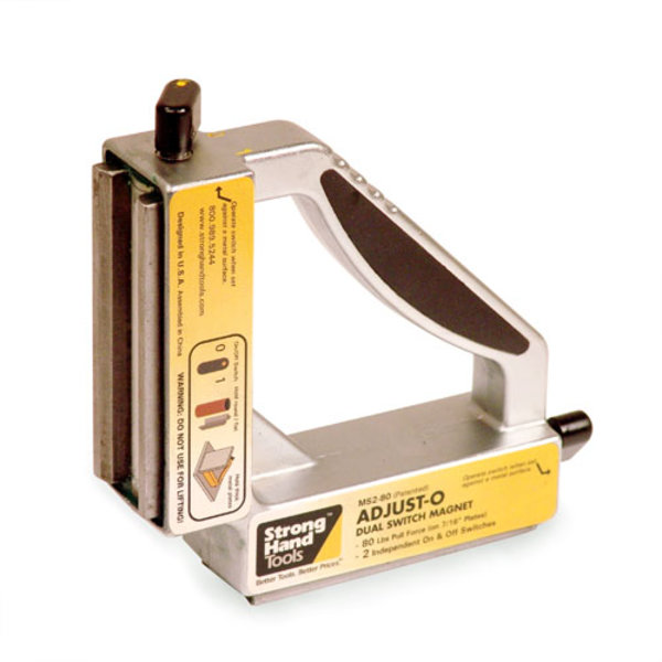 Adjust-O™ 90° Dual Switch Magnet Square 265 LBS