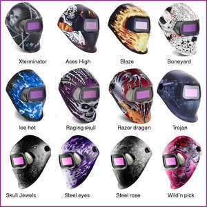 welding helmet 100 graphics Steel Rose, 4/8-12