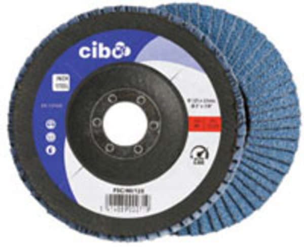 Flap disk conical ø 125 x 22 mm