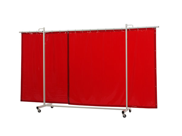 Robusto Triptych Welding Screen 355 cm with curtains