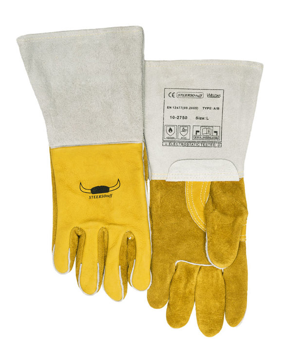 Welding glove cow leather 10-2750